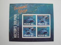 1991  Nouvelle Zélande - Yvert  BF 78 ** Dauphins  Dolphins   Scott B 140a  Michel B 28  SG  Ms 1622 - Blocs-feuillets
