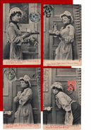 6 Cpa Carte Postale Ancienne -  La Petite Bonne Ingenue - Humour