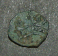 SMALL MEDIEVAL COIN, HUNGARY OR CRUSADERS, CROWN, CROSS - Antiche