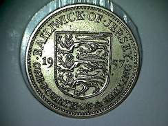 Jersey 1/4 Shilling 1957 - Jersey