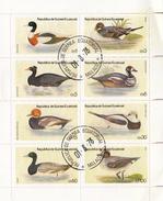 REPUBLICA DE GUINEA EQUATORIAL   - FEUILLET 8 TIMBRES CANARDS - DUCKS - 01.8.78  / 6244 - Canards