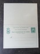 D1 Belgisch-Kongo Congo-Belge Ganzsache Stationery Entier Postal Doppelkarte
