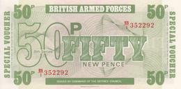Grande Bretagne Billet Militaire Ensemble De 3 Billets Neufs De 5, 10 Et 50 Pence - Military Issues