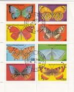 REPUBLICA DE GUINEA EQUATORIAL   - FEUILLET 8 TIMBRES PAPILLONS  - 01.6.76  / 6244 - Papillons