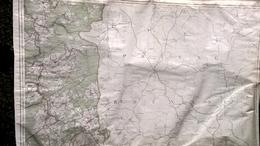 Vielsalm Grand Halleux Beho Bovigny + Frontière  Prusse  Saint Vith Recht Reuland Durler Amel Thommen Rodt - Cartes Géographiques