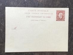 D1 Belgisch-Kongo Congo-Belge Ganzsache Stationery Entier Postal Ungebrauchte Karte