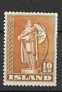 1948 USED Iceland Perf 14 - 1944-... Republique