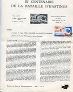 France-1966-document De La Poste-9è Centenaire De La Bataille D'Hastings (n°15) - Documents De La Poste