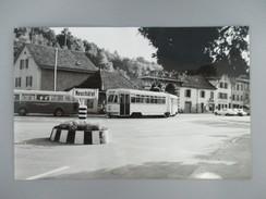 PHOTO SUISSE TN NEUCHATEL RAME ARTICULEE BE 4/6 AU TERMINUS DE BOUDRY COLLECTION B.FAVIERE 1968 - Treinen
