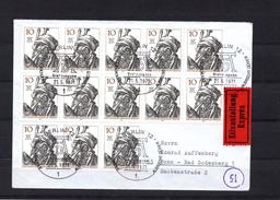 9044 Deutschland, Germany, Berlin-W. Mi 390 (13x)  A. Eilboten  Von Berlin Nach Bonn,  ETSt, AkSt Rücks. - Storia Postale