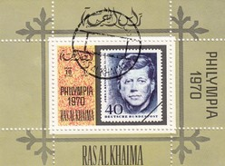 RASALKHAIMA  - BLOC PHILYMPIA 1970 - KENNEDY   / 6243 - Filatelistische Tentoonstellingen