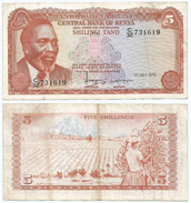 Kenia - Kenya 5 Shillings 1978, Firma 5 Pick 15 Ref 283 - Kenia