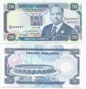Kenia - Kenya 20 Shillings 1989, Firma 9b Pick 25.b Ref 288 - Kenia