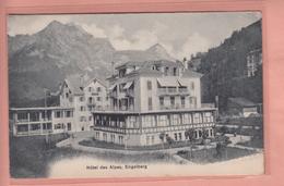 OUDE POSTKAART - ZWITSERLAND - SCHWEIZ - SUISSE -   HOTEL DES ALPES - ENGELBERG - OW Obwald