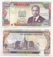 Kenia - Kenya 100 Shillings 1992, Firma 10a Pick 27.d Ref 289 - Kenya