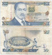 Kenia - Kenya 20 Shilings 1997 Pick 35.b Ref 297 - Kenia