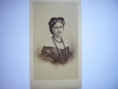 Photo CDV D'une Belle Jeune Femme - Princesse ? Noblesse Française Ou Européenne ? Années 1860 - Second Empire - Anciennes (Av. 1900)