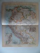 Carte Pays Colombie Panama Venezuela Aquateur Perou Bolivioe 1905 - Cartes