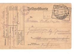 Guerre-Oorlog 14-18 POW-PDG Soltau En 1916 Censure Du Camp + Etappen V.Goefferdingen Lez Grammont PR4609