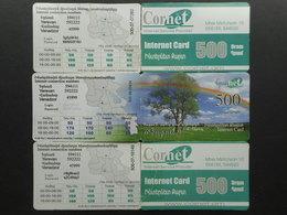 Armenia. Internet Card Cornet 500 Dram (Lot Of 2 Cards) - Armenia