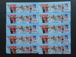 Armenia. Internet Card Karabakh Telecom 1000 Units (Lot Of 10 Cards) - Armenia