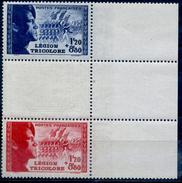 FRANCE 1942  YVERT  N° 565 à 566 A Avec Bande Bord De Feuille Neuf LUXE  MNH COTE 27.5E - Ongebruikt