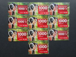 Armenia. Internet Card VivaCell 1000 Dram (Lot Of 10 Cards)
