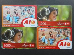 Armenia. Internet Card VivaCell 1000 Dram (Lot Of 4 Cards)