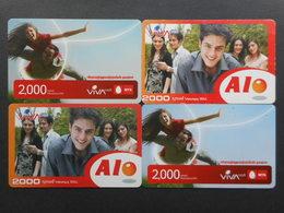 Armenia. Internet Card VivaCell 2000 Dram (Lot Of 4 Cards)