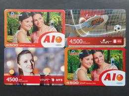 Armenia. Internet Card VivaCell 4500 Dram (Lot Of 4 Cards)
