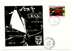 """Escale Du P.H. """"JEANNE D'ARC"""" Le 27 Décembre 1973 à L'île De NUKU HIVA - French Polynesia"""