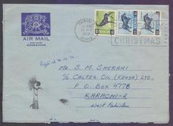 Animals, Postal History Cover, Aerogramme From KENYA, Used 1970 With Slogan Postmark - Kenia (1963-...)