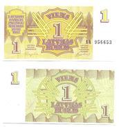 Letonia - Latvia 1 Rublis 1992 Pick 35 UNC - Letonia