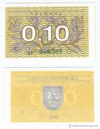Lituania - Lithuania 0,10 Talonas 1991 Pick 29.a UNC - Lituanie