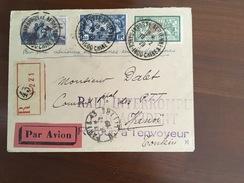 Lettre Avion Accidenté Vers Hanoi - 1929 Affr. Merson 207 - Marcophilie (Lettres)