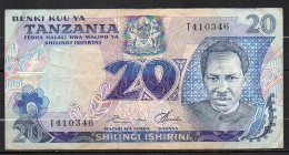 534-Tanzanie Billet De 20 Shillings 1978 T410 Sig.5 - Tanzanie