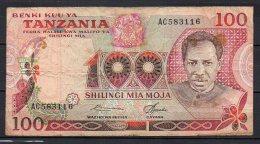 534-Tanzanie Billet De 100 Shillings 1977 AC583 Sig.5 - Tanzanie