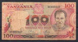 534-Tanzanie Billet De 100 Shillings 1977 BX895 Sig.6 - Tanzanie