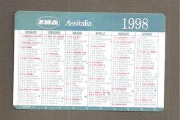 CALENDARIO TASCABILE 1998 INA ASSITALIA ASSICURAZIONI - PLASTIFICATO - Formato Piccolo : 1991-00