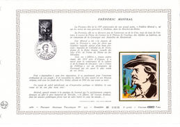 """FRANCE 1980 : Feuillet  DAP 1° Jour CERES En Soie RARE (4700 Ex) """" FREDERIC MISTRAL """" N° YT 2098. Parfait état - Ecrivains"""