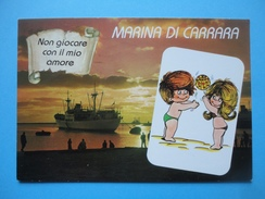 Marina Di Carrara - Vignetta Fidanzatini - Non Giocare Con Il Mio Amore - Tramonto - Carrara