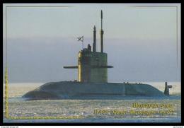 """RUSSIA POSTCARD 6 Mint SUBMARINE """"Saint-Petersburg"""" B-585 SOUS MARIN U BOOT TRANSPORT 87 - Unterseeboote"""