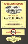 ITALIA - Etichetta Vino CASTELLI ROMANI Cantine VIN.ORO  Bianco Del LAZIO - Alberi, Chiesa - Witte Wijn