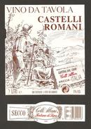 ITALIA - Etichetta Vino CASTELLI ROMANI Cantine COLLI ALBANI  Bianco Del LAZIO - Vendemmia - Witte Wijn