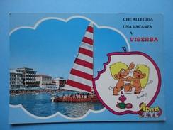 Viserba - Rimini - Vignetta Adam Eve - Che Allegria Una Vacanza A ..  - Vedutina Mare Spiaggia E Alberghi - Carrara