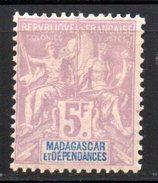 Col 4/ Madagascar N° 42 Neuf X MH Cote 42,00€ - Madagascar (1889-1960)