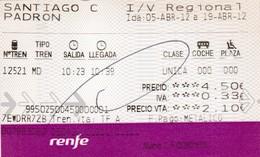 Spanje / España : RENFE     =>    Santiago => Padron - Chemins De Fer