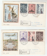 1967 REGISTERED VATICAN FDC Stamps AIRMAIL STAMPS  Cover By Roma - FDC