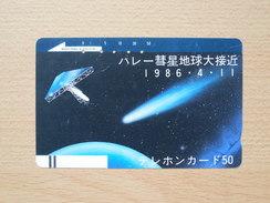 Japon Japan Free Front Bar, Balken Phonecard - 110-4408 / Comet Halley / - Astronomy