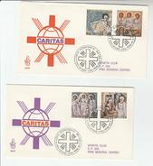 1990 VATICAN FDC Stamps  CARTITAS RELIGIOUS ART  Cover  By Venetia Club Religion - FDC